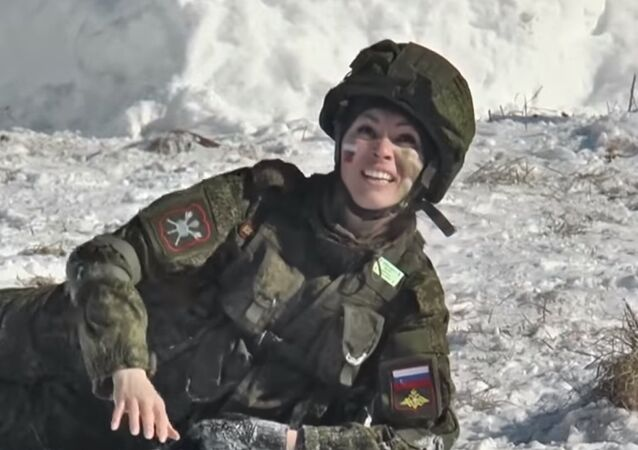 'Make-Up Under Camouflage' Beauty Pageant Among Women From Strategic Rocket Forces