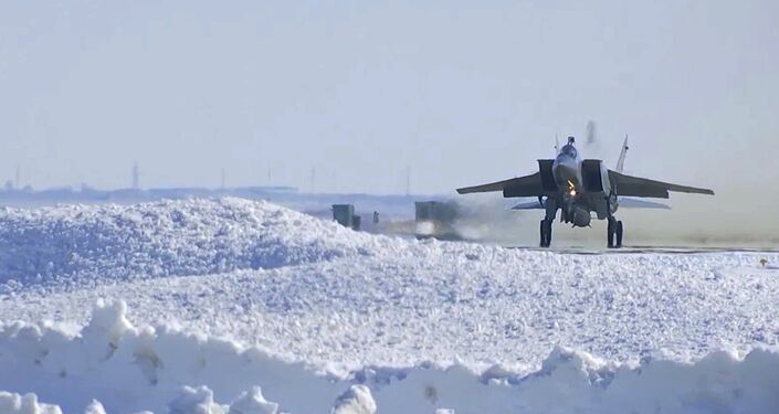 The Russian Aerospace Forces conducts test launch of a Kinzhal hypersonic aviation and missile system