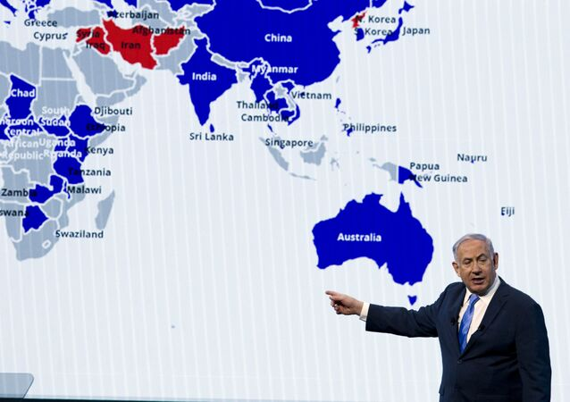 Israeli Prime Minister Benjamin Netanyahu speaks at the 2018 American Israel Public Affairs Committee (AIPAC) policy conference, at Washington Convention Center, Tuesday, March 6, 2018, in Washington