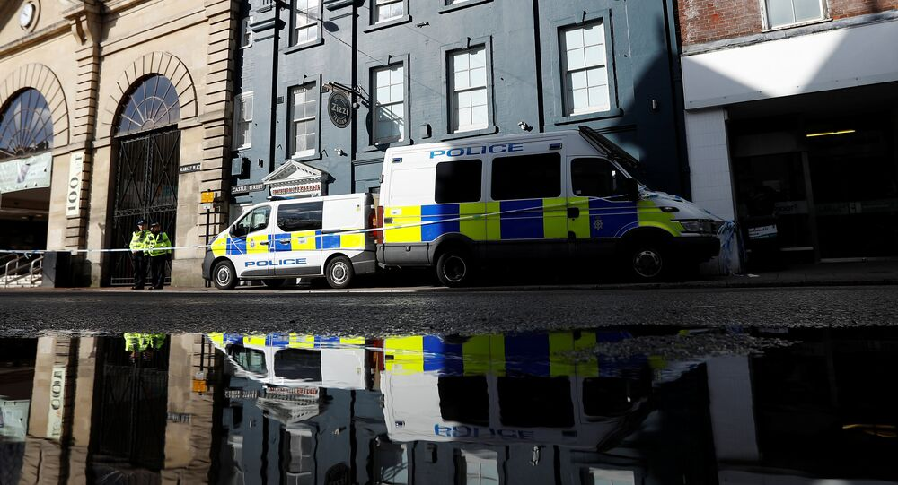 Police officers continue to guard Zizzi's restaurant where Sergei Skripal and his daughter Yulia are known to have visited shortly before they were found in the centre of Salisbury, Britain, March 8, 2018