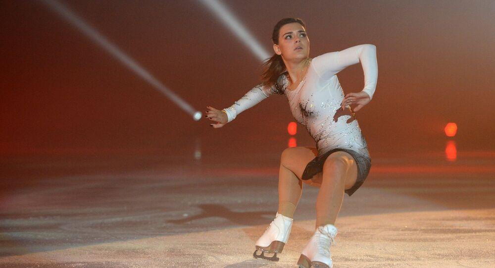 Adelina Sotnikova performs at Ilya Averbukh's Ice Age show at Iceberg Skating Palace in Sochi