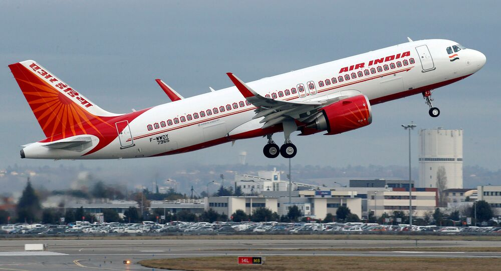 An Air India Airbus A320neo plane takes off in Colomiers near Toulouse, France, December 13, 2017