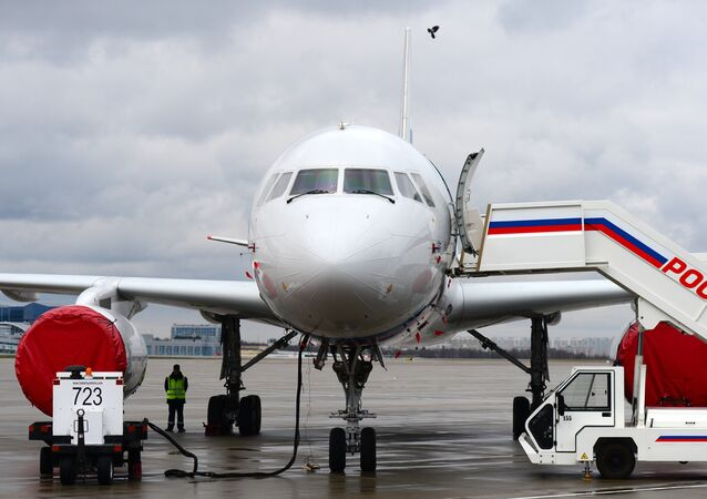 The Tu-204-300 aircraft of the Rossiya special air detachment (File)