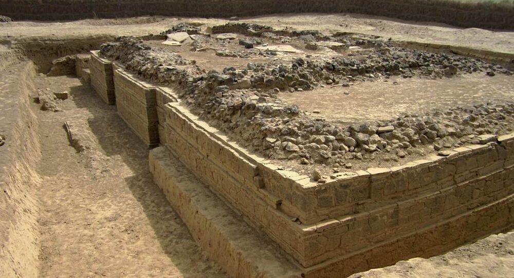A 5th century Byzantine basilica at Adulis, Eritrea, excavated in 1914 by the Italian archaeologist Roberto Paribeni