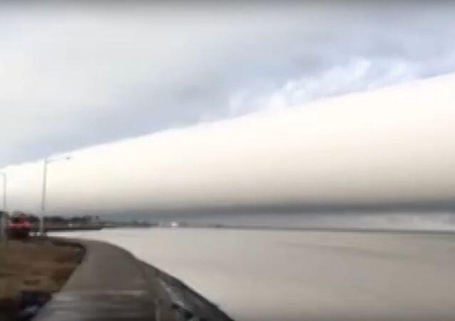 Incredible Cloud Rolls Along Skyline