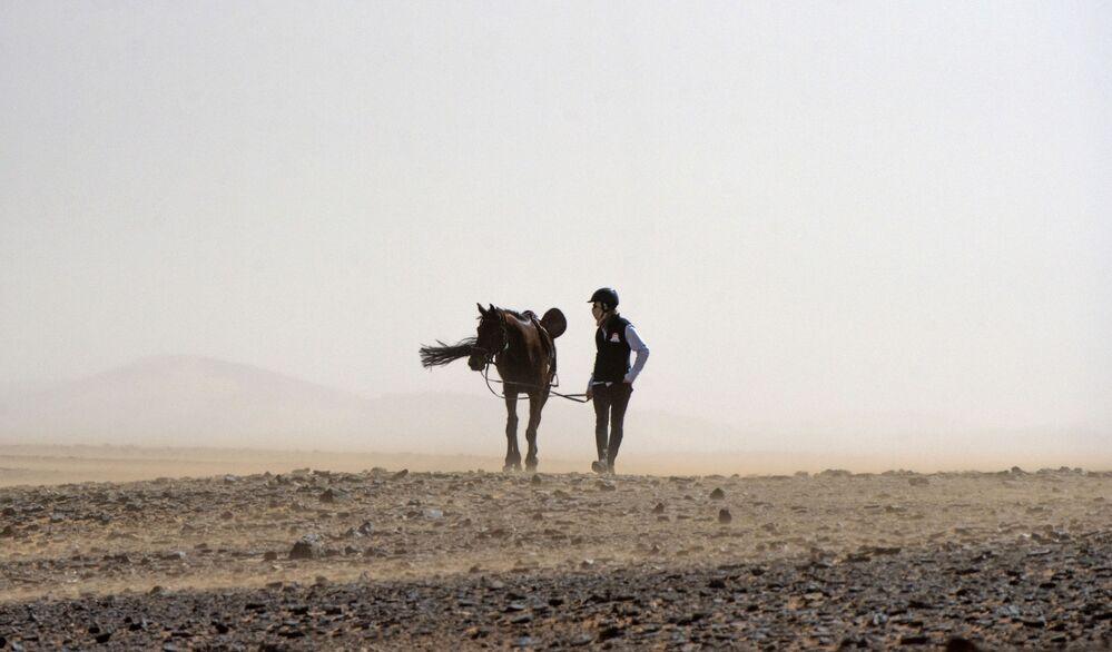 Desert Stallion Race 'Gallops of Morocco' Participants Endure Rough Conditions