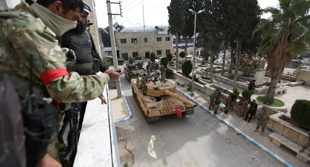 Turkish forces and Free Syrian Army are deployed in Afrin, Syria March 18, 2018