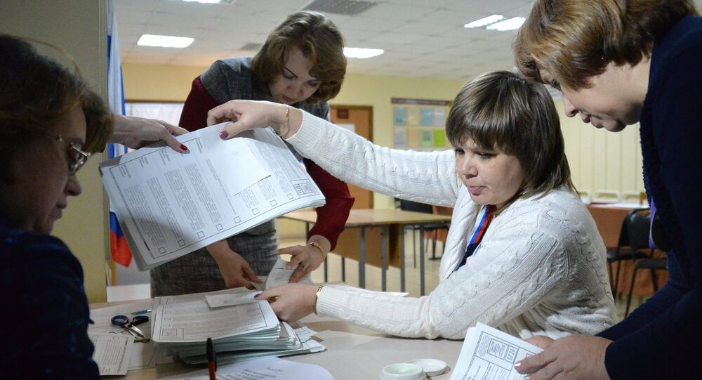 Counting of votes in the Russian presidential elections