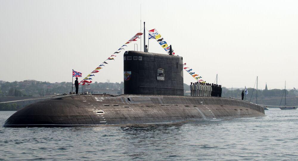 The B-261 Novorossiysk submarine. File photo