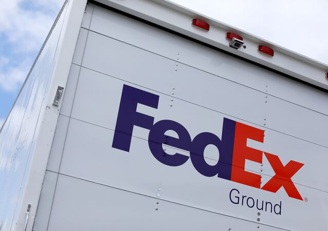 A Federal Express truck is shown on deliver in La Jola, California, U.S., May 17, 2017