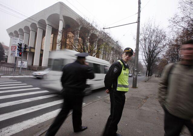 Police in Chisinau, Moldova (File)