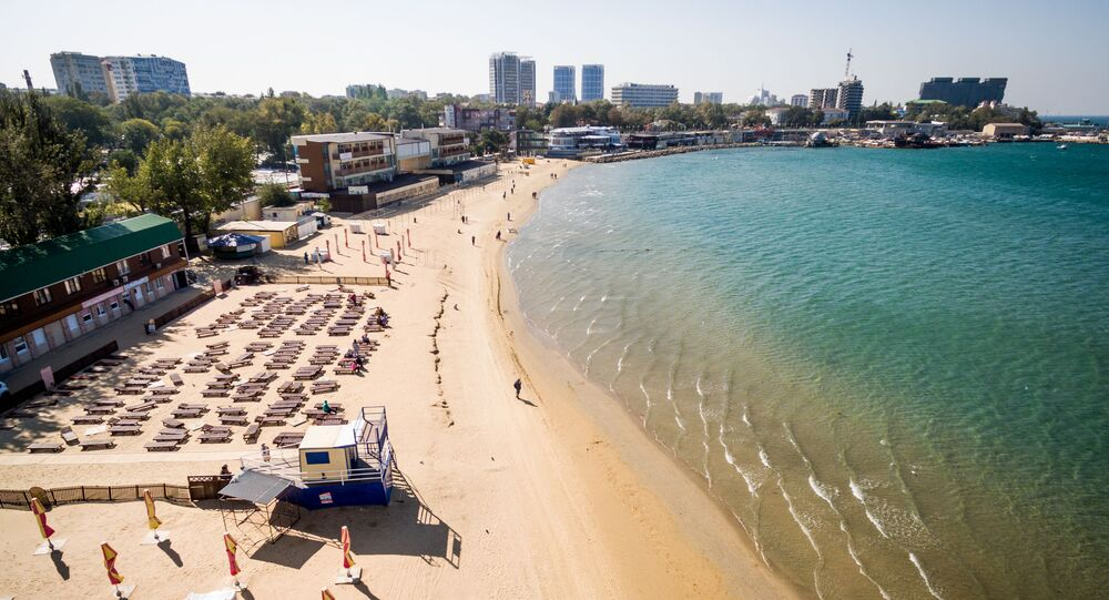The Central beach in Anapa