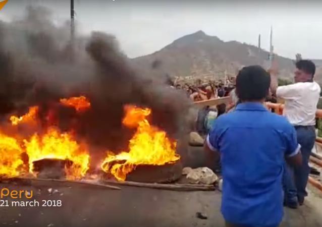 Screenshot of Peru protests