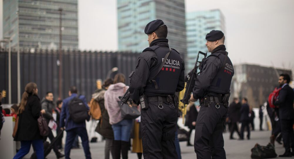 Catalan police in Barcelona, Spain. (File)