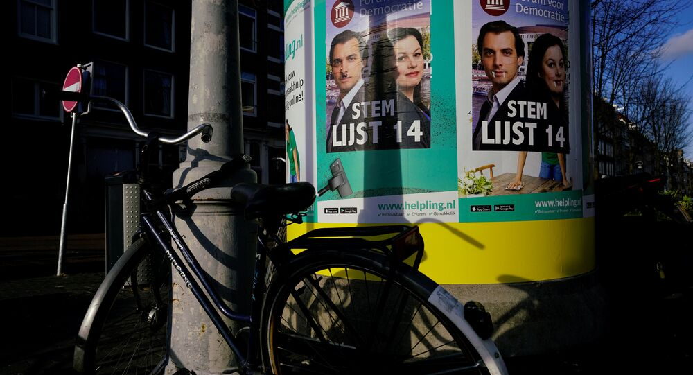 Thierry Baudet (Forum for Democracy) campaign posters are seen during the local council election in Amsterdam, the Netherlands