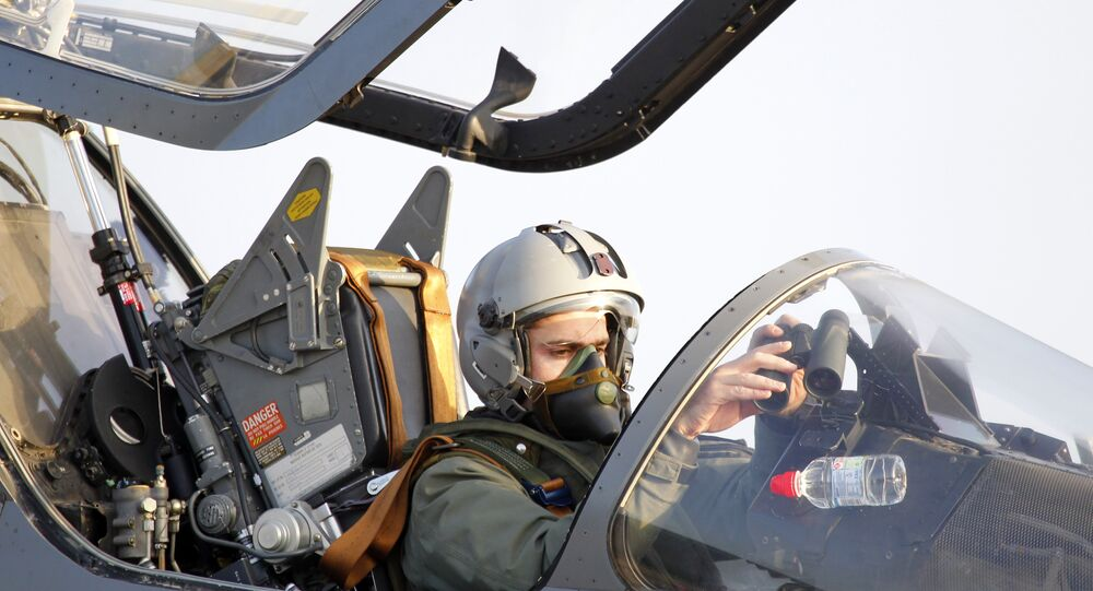 The French pilot of an Air Force Mirage 2000 jet fighter prepares to take off for a mission to Libya, at Solenzara 126 Air Base, on Corsica Island. (File)