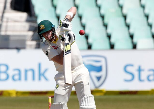 Cricket - South Africa vs Australia - First Test Match - Kingsmead Stadium, Durban, South Africa - March 3, 2018. Australia's Steve Smith fends off a short ball.