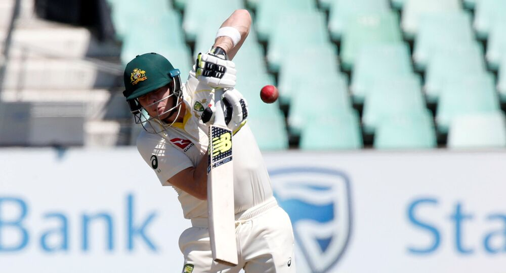 Cricket - South Africa vs Australia - First Test Match - Kingsmead Stadium, Durban, South Africa - March 3, 2018. Australia's Steve Smith fends off a short ball.