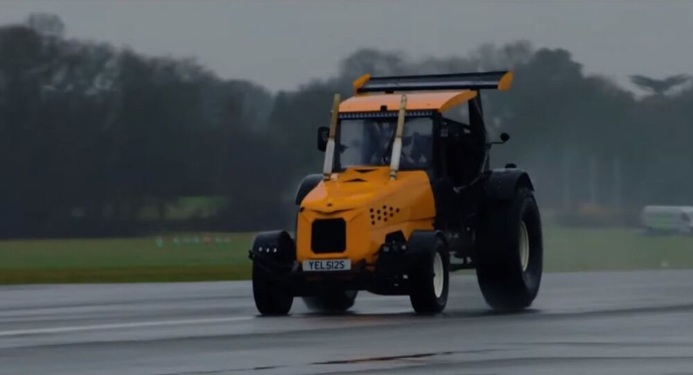 The Stig Breaks World Record in Modified Tractor on Top Gear