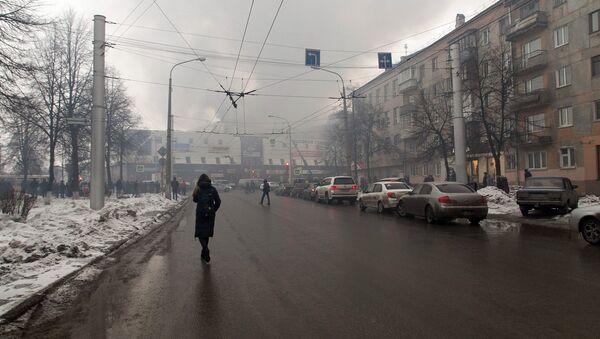 Fire in a shopping center in Russia's city of Kemerovo - Sputnik International