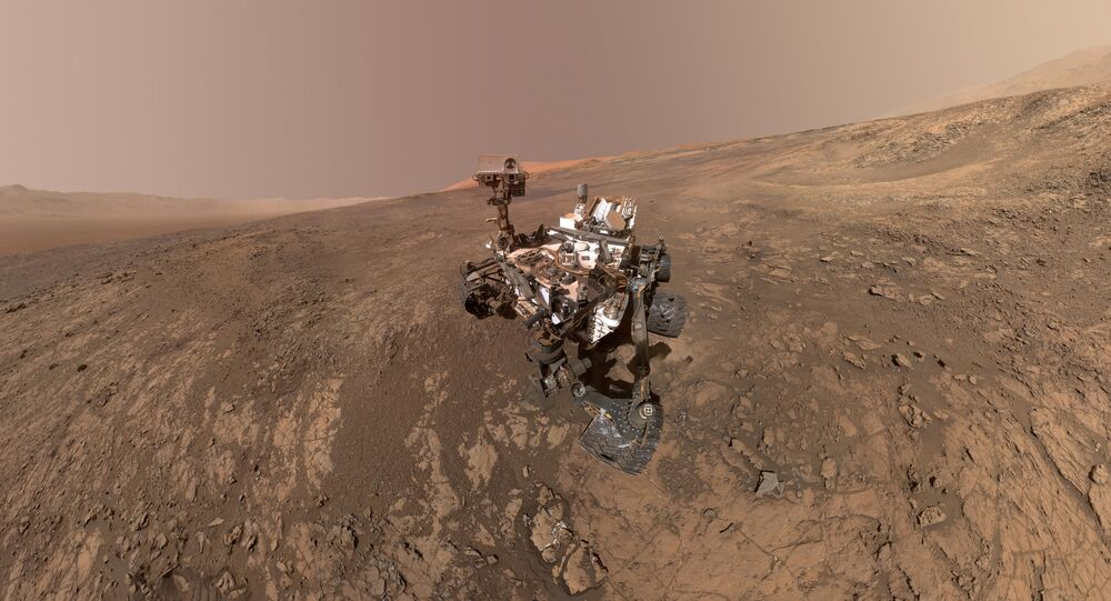 self-portrait of NASA's Curiosity Mars rover on Vera Rubin Ridge