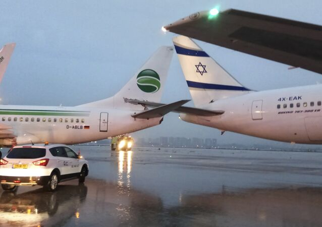 Airplanes are seen at the Ben Gurion airport near Tel Aviv, Israel, Wednesday, March 28, 2018