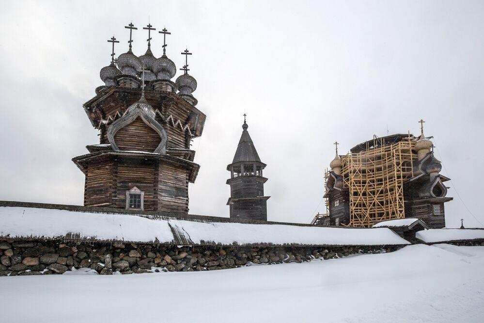 Post Card View of Kizhi