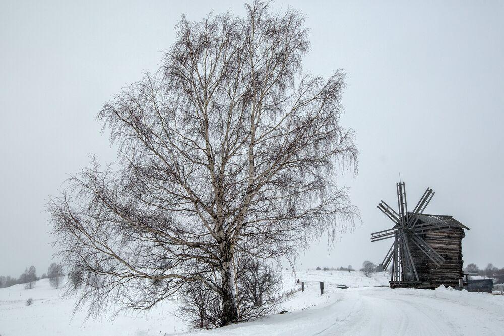 Kizhi's Winter Landscape