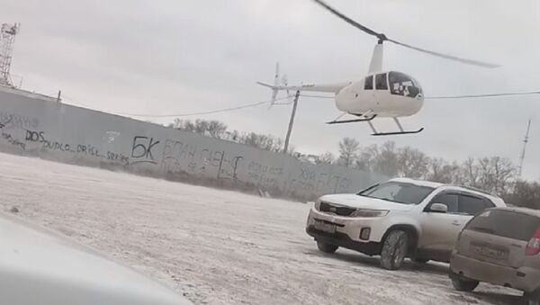 Tambov. The helicopter flew directly to the parking lot at Stroydepo - Sputnik International