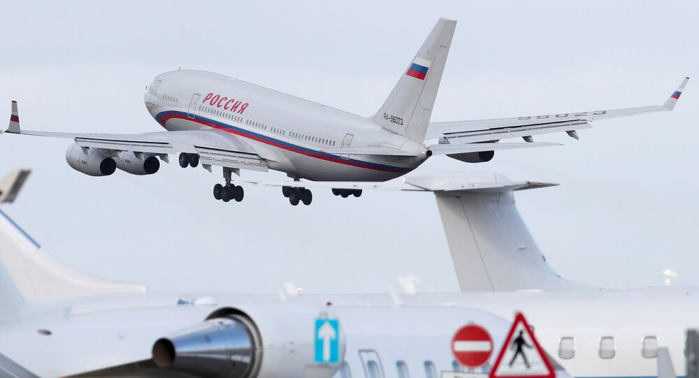 An aircraft sent to collect diplomats and their families from Russia's embassy in London, who were expelled by Britain after the poisoning of former Russian intelligence officer Sergei Skripal and his daughter Yulia in Salisbury, takes off from Stansted aiport, Britain, March 20, 2018.