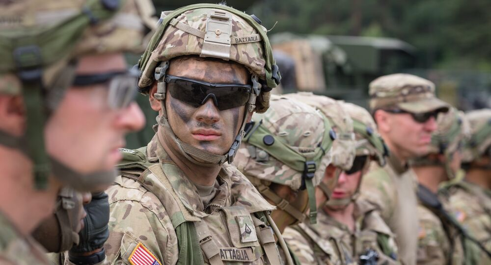 American Soldiers are seen during NATO Saber Strike military exercises on June 16, 2017 in Orzysz, Poland. (File)