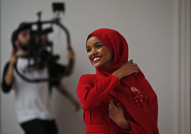 Halima Aden, a hijab wearing model from the United States