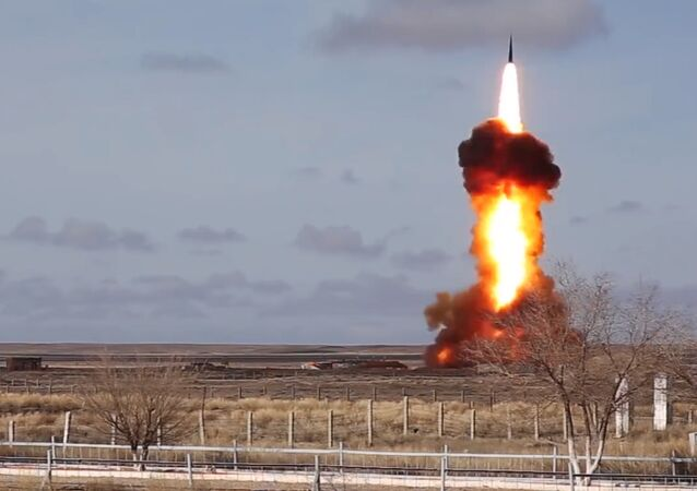 Inter-missile launch from Sary Shagan testing ground.
