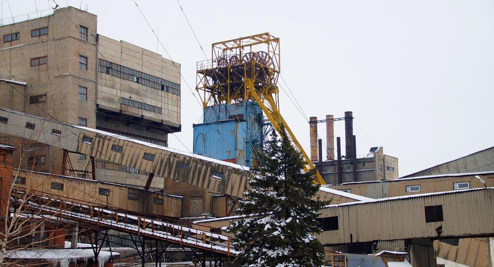 Coal mine in the Lugansk Region.