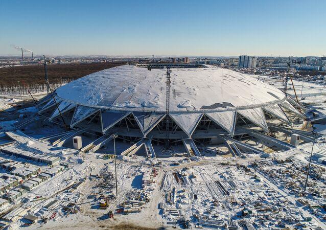 Samara Arena in Samara, a venue for the 2018 FIFA World Cup matches