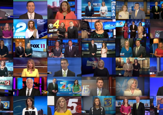 Deadspin video shows dozens of anchors reading off script about the troubling trend of irresponsible, one-sided new stories plaguing our country.