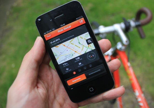 The Strava app shown on an iPhone