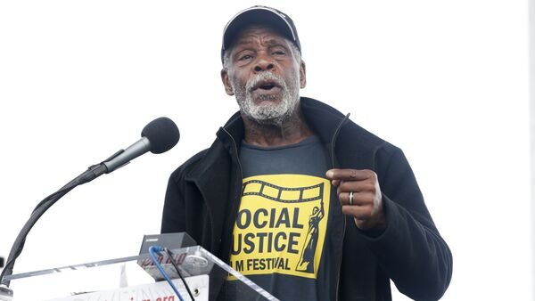 Actor Danny Glover speaks at the A.C.T. To End Racism rally, Wednesday, April 4, 2018, on the National Mall in Washington, on the 50th anniversary of Martin Luther King Jr.'s assassination. - Sputnik International