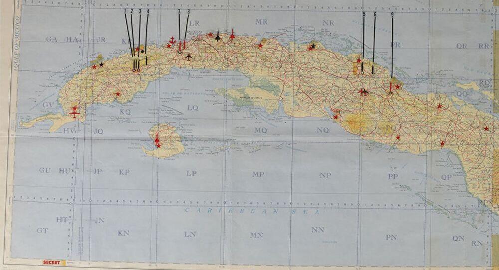 Secret US Cuban Missile Crisis map.