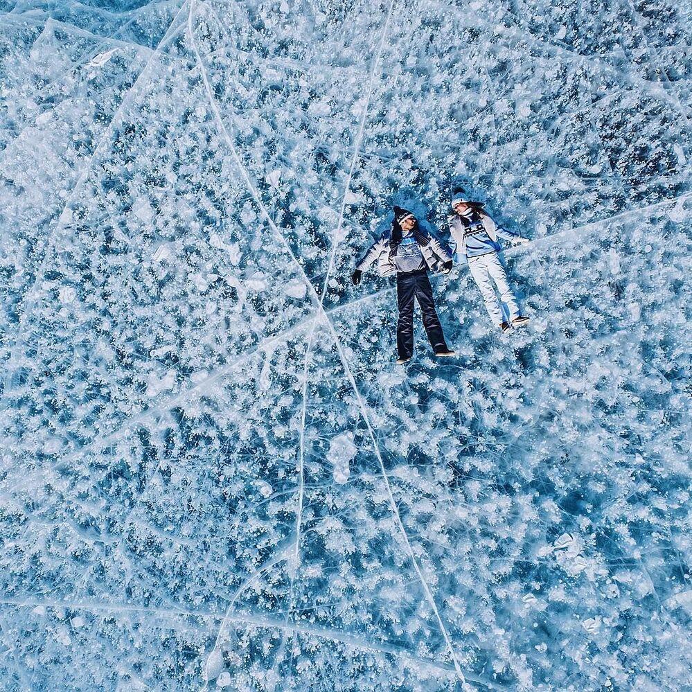 Stunning Views of Frozen Lake Baikal