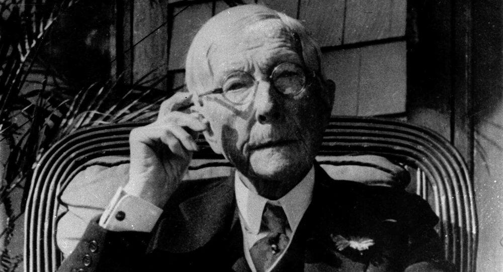 Oil magnate John D. Rockefeller is shown in this 1930 photo