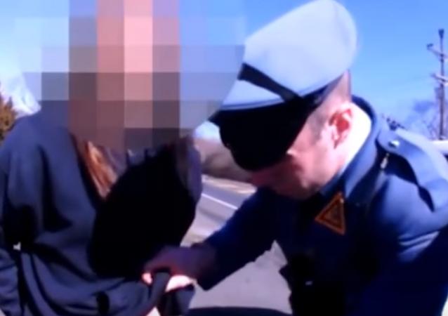 N.J. state trooper strip searches a man