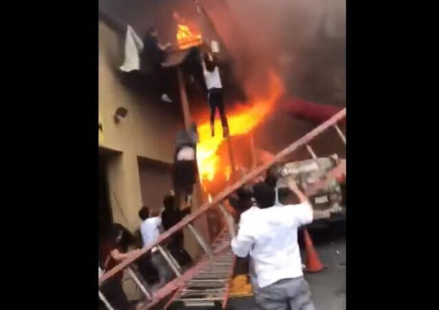 NJ Edgewater Fire, Beyoglu Lounge fire, people jumping from balcony