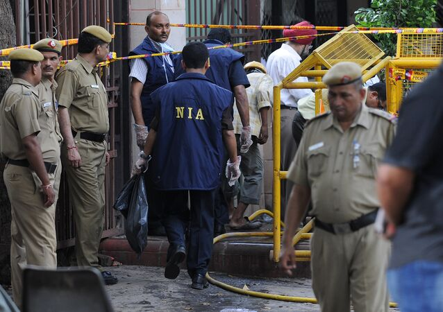 (File) Indian National Investigation Agency (NIA) officers
