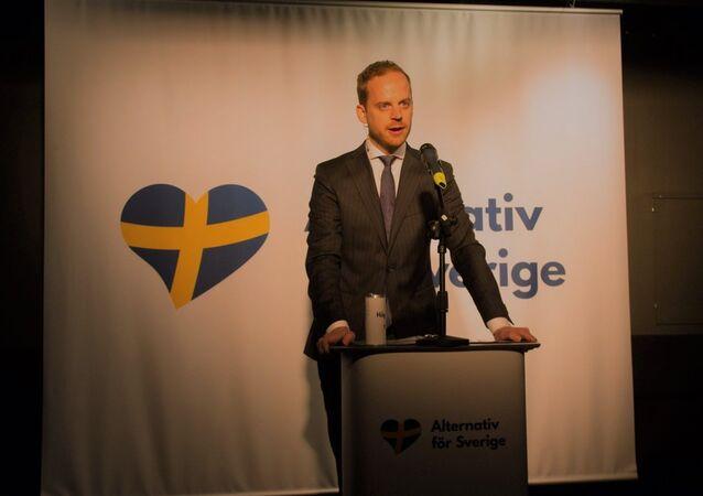 Gustav Kasselstrand, Alternative for Sweden party leader