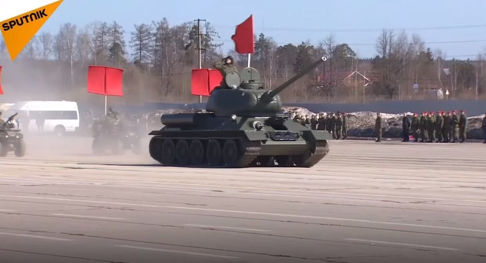 Russia: Russian Military Rehearsing For V-Day Parade