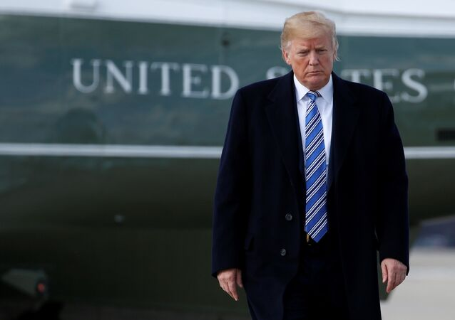 U.S. President Donald Trump walks to Air Force One as he departs for Palm Beach, Florida, from Joint Base Andrews in Maryland, U.S