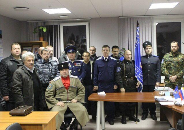 St. Petersburg's Irbis Cossack group