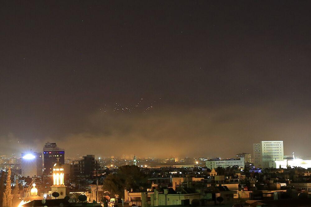 US-Led Overnight Missile Strikes Against Syria