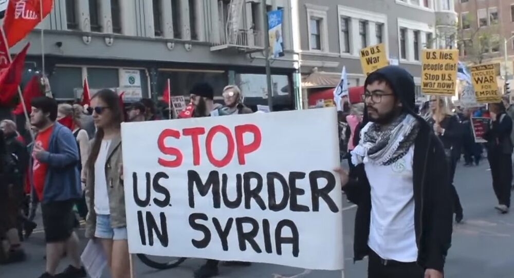 'Hands Off Syria:' Rally Against Strikes On Syria Held In US